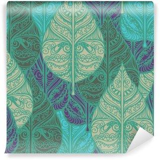 Vinyl Fotobehang Naadloze patroon met bladeren