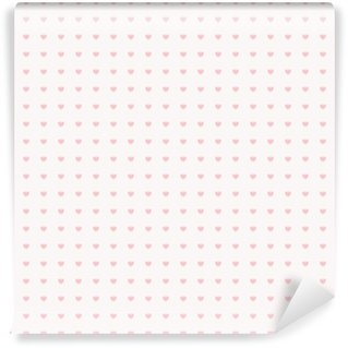 Vinyl Fotobehang Naadloze patroon met hartjes