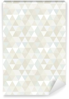 Vinyl Fotobehang Naadloze Patroon van de Driehoek, achtergrond, textuur