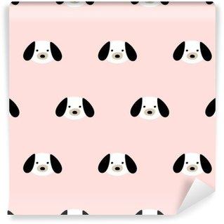 Vinyl Fotobehang Naadloze schattige hond patroon