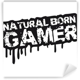 Vinyl Fotobehang Natural Born Gamer Stempel Graffiti
