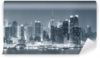 Vinyl Fotobehang New York City Manhattan zwart en wit