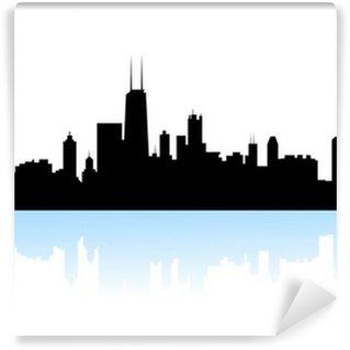 Vinyl Fotobehang NewYork skyline silhouet-vector