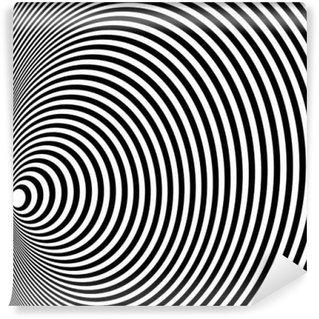 Vinyl Fotobehang Opt Art Illustratie voor uw ontwerp. Optische illusie. Abstracte achtergrond. Gebruik voor kaarten, uitnodiging, behang, patroonvullingen, webpagina's en elementen etc.
