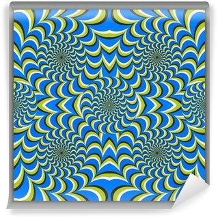 Vinyl Fotobehang Optische illusie cirkel pleinen doek [cx]