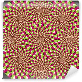 Vinyl Fotobehang Optische illusie ellips combinatie