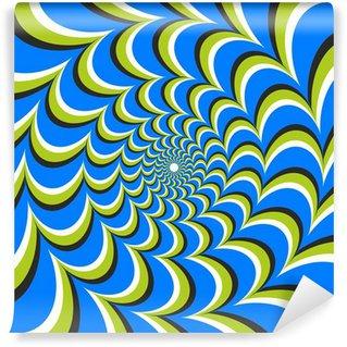 Vinyl Fotobehang Optische illusie ellips werveling
