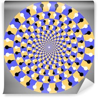 Vinyl Fotobehang Optische illusie ellips