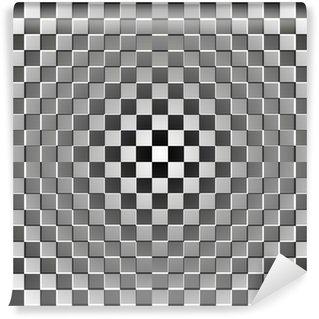 Vinyl Fotobehang Optische illusie rechthoek