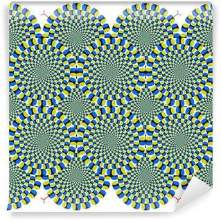 Vinyl Fotobehang Optische illusie Spin Cycle met slangachtige (EPS)