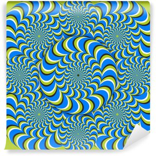 Vinyl Fotobehang Optische illusie wave kringen