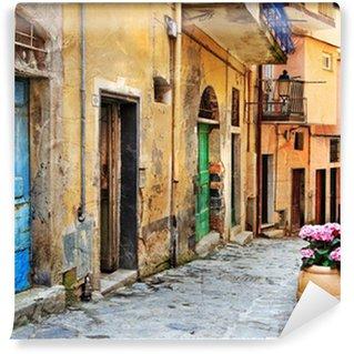 Vinyl Fotobehang Oude straten van de Italiaanse dorpen