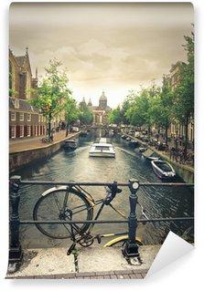 Vinyl Fotobehang Rivier in amsterdam