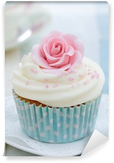 Vinyl Fotobehang Rose cupcake