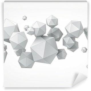 Vinyl Fotobehang Samenstelling van icosaëder voor grafische vormgeving