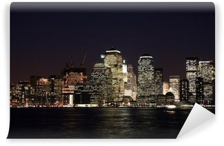 Vinyl Fotobehang Skyline Newyork at Night