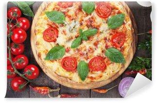 Vinyl Fotobehang Spaghetti pizza margherita