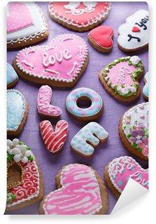 Vinyl Fotobehang St. Valentine's cakes - Stock Image