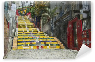 Vinyl Fotobehang Steps Steps Selaron Rio de Janeiro Brazilië