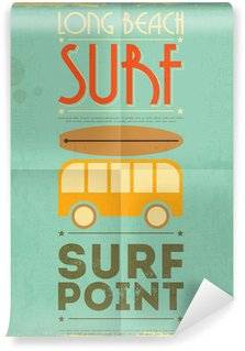 Vinyl Fotobehang Surfen poster