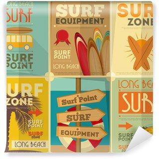 Vinyl Fotobehang Surfen posters collectie