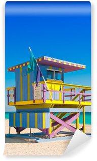 Vinyl Fotobehang Toren van de badmeester in South Beach, Miami Beach, Florida