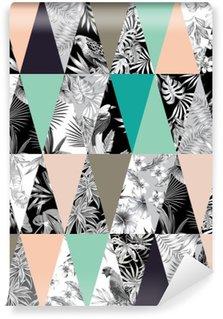 Vinyl Fotobehang Tropische patchwork naadloze achtergrond