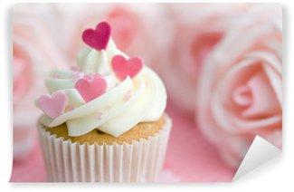 Vinyl Fotobehang Valentijn cupcake