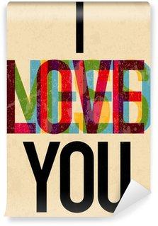 Vinyl Fotobehang Valentijnsdag teksttype kalligrafische