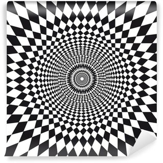 Vinyl Fotobehang Vecteur, illusie d'optique