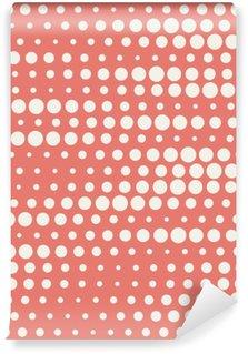 Vinyl Fotobehang Vector illustratie van naadloze halftone achtergrond in het rood pastel kleuren