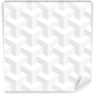 Vinyl Fotobehang Vector onwerkelijk textuur, abstract ontwerp, illusie bouw, witte achtergrond