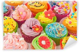 Vinyl Fotobehang Verjaardag cupcakes