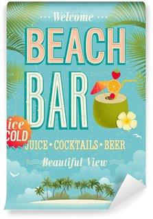 Vinyl Fotobehang Vintage Beach Bar poster. Vector achtergrond.
