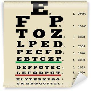 Vinyl Fotobehang Vintage stijl eye chart