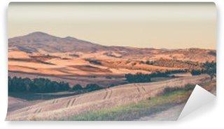 Vinyl Fotobehang Vintage Toscaanse landschap