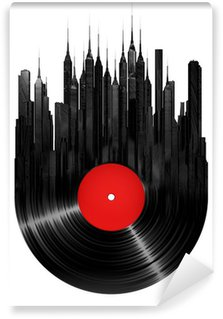 Vinyl Fotobehang Vinyl stad