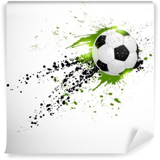 Vinyl Fotobehang Vliegende voetbal