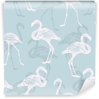 Vinyl Fotobehang Vogel flamingo patroon