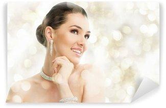 Vinyl Fotobehang Vrouw met juwelen