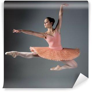 Vinyl Fotobehang Vrouwelijke balletdanser