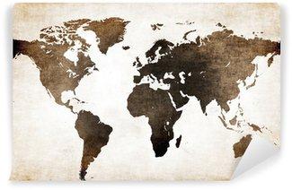Vinyl Fotobehang Wereldkaart oud