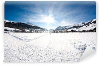 Vinyl Fotobehang Winter in Livigno