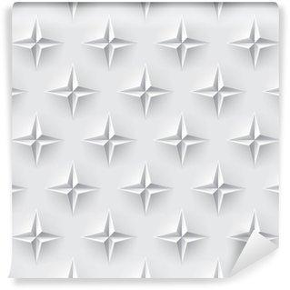 Vinyl Fotobehang Witte 3d naadloze textuur