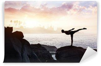Vinyl Fotobehang Yoga op de stenen