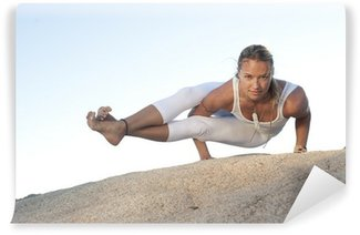 Vinyl Fotobehang Yoga stelt Astavakrasana