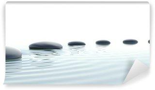 Vinyl Fotobehang Zen pad van stenen in breedbeeld
