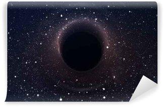 Vinyl Fotobehang Zwart gat in diepe ruimte, het gloeien mysterieuze universum. Elementen van deze afbeelding geleverd door NASA
