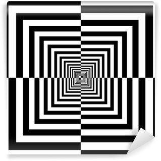 Vinyl Fotobehang Zwarte en witte vierkantjes