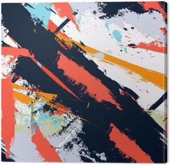 Abstrakt kunst grunge distressed sømløse mønster Fotolærred